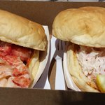 lobster and crab meat rolls
