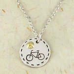 Sterling silver bicycle sendant handmade in Mexico