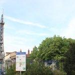 Torre de metal de Fouvière, o ponto mais alto.