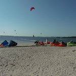 Kite boarding at SunSet Beach, Tarpon Springs, Florida
