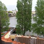 We could see the Charles Bridge and the Vltava River from our room