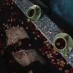 Flower bath + green tea