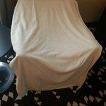 Das ist mein riesiges Duschhandtuch - sagenhaft, trocknet und kuschelig
