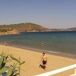 Beach view from Kalamakia tavern