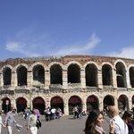 The Verona Arena (Arena di Verona) is a Roman amphitheatre in Piazza Bra in Verona, Italy, which