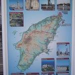 Carte de l'ile de rhodes