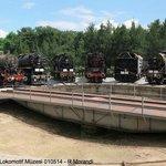 Locomotives on the original turntable