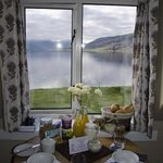Breakfast in our room overlooking the water. What a start to the day.
