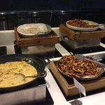 cooked food section