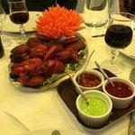 poulet Tandoori et autres entrées (à partager)