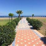 mooie strandweg