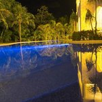 swimout pool at night
