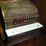 Old school cash register at Ball and Chain