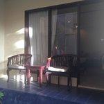 Balcony terrace area for ground floor super deluxe room
