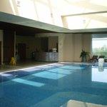 piscine eau salée à 38°du SPA au 3ème étage