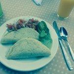 Quesadillas for breakfast!