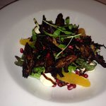 Delicious duck salad starter