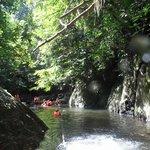 Trekking through the jungle/river..