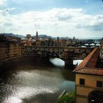 View of Florence from the uffizi museum