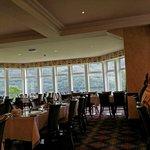 Dining room overlooking loch