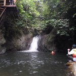 The trek led to the waterfall and if you're up for it, take a leap off the platform!