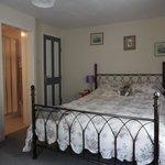 King-size bedroom with en-suite bathroom (shower).  Price £70 per night including breakfast.
