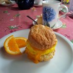 Delicious egg and cheese scone