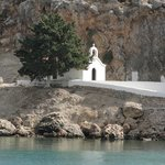 most beautiful little church overlooking St Paul's Bay Lindos