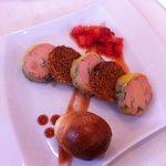 Médaillons de foie gras, entrée dans le menu à 26€