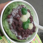 Macha Ice with redbean and mochi