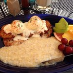 Amazing Fried Green Tomato Eggs Benedict!!!