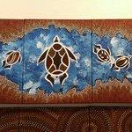 Mundaloo custom painted Whitsunday dreaming canvas
