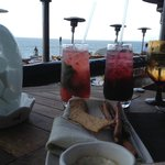 drinks by the Pacific