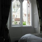 View across bedroom towards Cathedral