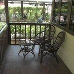 verandah of the chalet