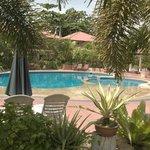Small pool but fun and warm