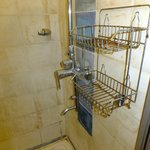 The Harbour Lights - shower rack, home to one of the broken controls