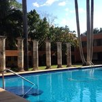The lovely pool at the Hacienda Hotel is great for cooling off after a visit to the ruins.