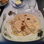Raviolis à la crème de Brie et noix