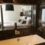 mirrored hatch to the bedroom