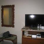 intérieur de la chambre avec télévision