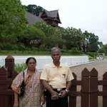 My parents in front of Malacca Sultanate Palace during our visit
