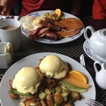 5 different eggs bennies, anglers breakfast! Did I mention included with accommodations!