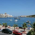 Sliema harbour from 115 The Strand