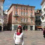Praça em  Lugano ,  no  Hotel  Dante