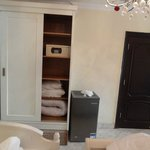 Wardrobe with safety deposit box