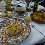 Pistillia (Chicken Pie) and beef /vegie targine on couscous