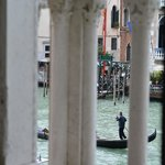 View from Sofa in Junior Suite through balcony onto Grand Canal