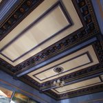 The dining room ceiling