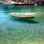 Clear waters in the harbour